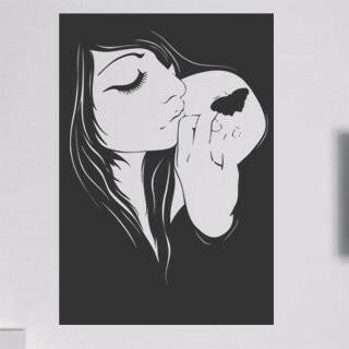 Samolepka na zeď Dívka 018