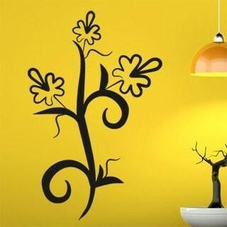 Samolepka na zeď Květiny 014