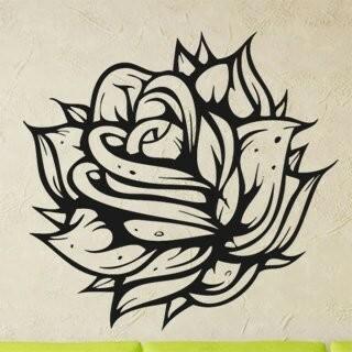 Samolepka na zeď Růže 005