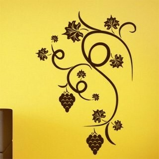 Samolepka na zeď Hroznové víno 001