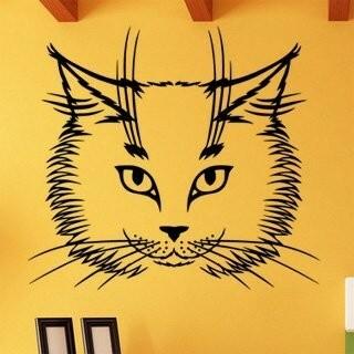 Samolepka na zeď Kočka 0473