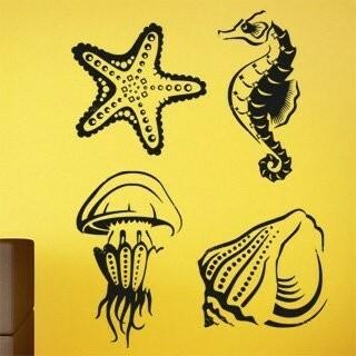 Samolepka na zeď Mořský život 001