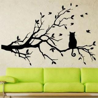 Samolepka na zeď Kočka 004