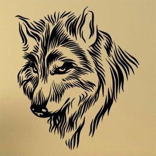 Samolepka na zeď Vlk 1407