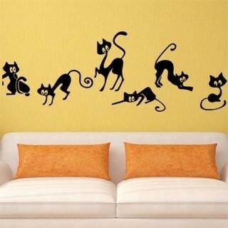 Samolepka na zeď Kočička 004