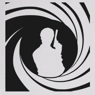 Samolepka na zeď James Bond 002
