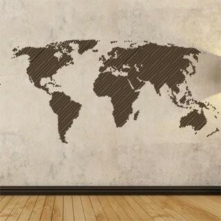 Samolepka na zeď Mapa světa 001