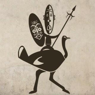 Samolepka na zeď Afričani 002