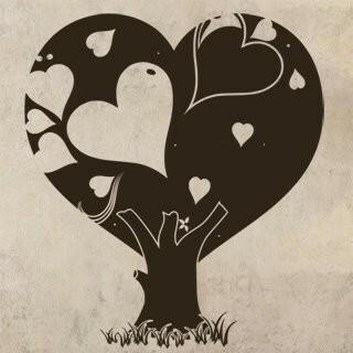 Samolepka na zeď Zamilovaný strom 0223
