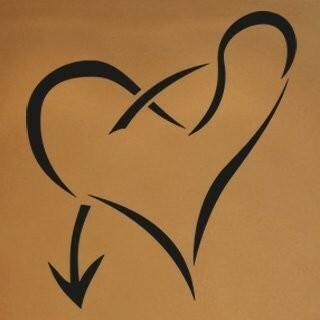 Samolepka na zeď Srdce 006