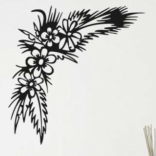 Samolepka na zeď Květiny 015