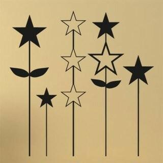 Samolepka na zeď Hvězdy 001