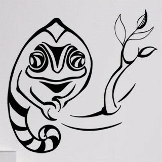 Samolepka na zeď Chameleon 004