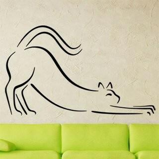 Samolepka na zeď Kočka 0426