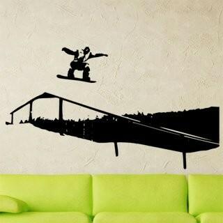 Samolepka na zeď Snowboardista 002