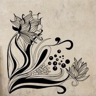 Samolepka na zeď Květiny 020