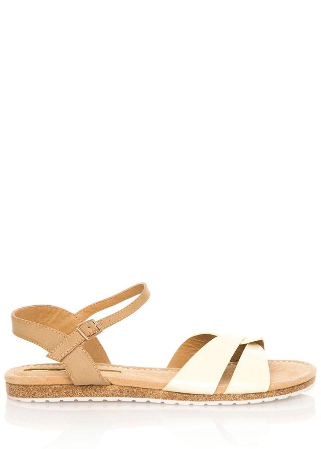 Žluté korkové letní sandálky MARIA MARE