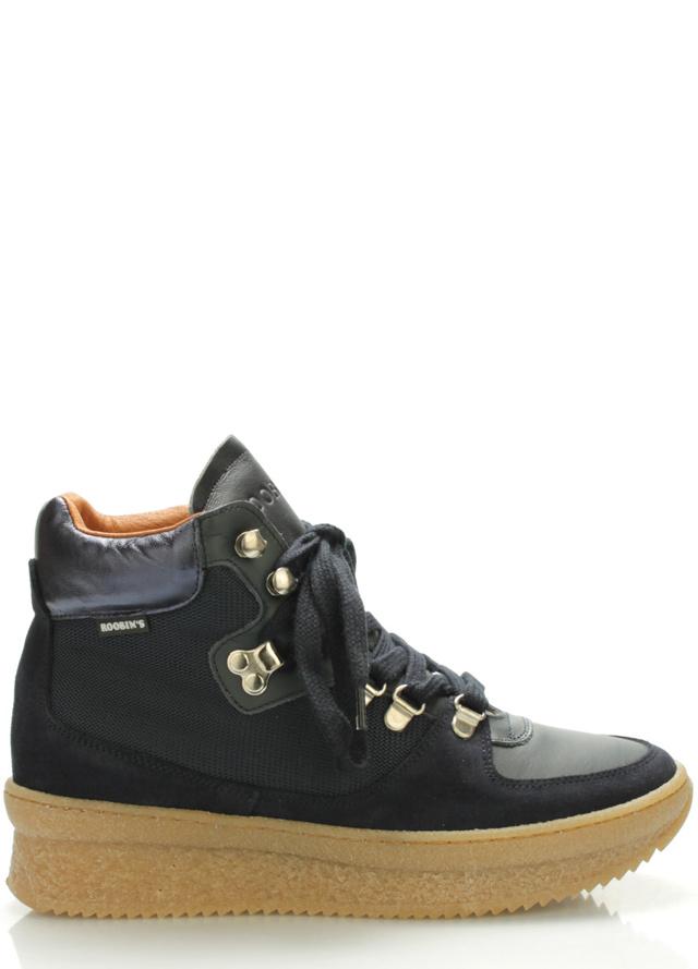 Tmavě modré kožené boty Roobins - 42