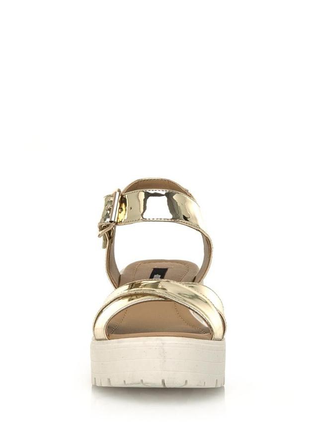 Zlaté sandály na rozdělené platformě MTNG(434750) - 2 5c04062addd