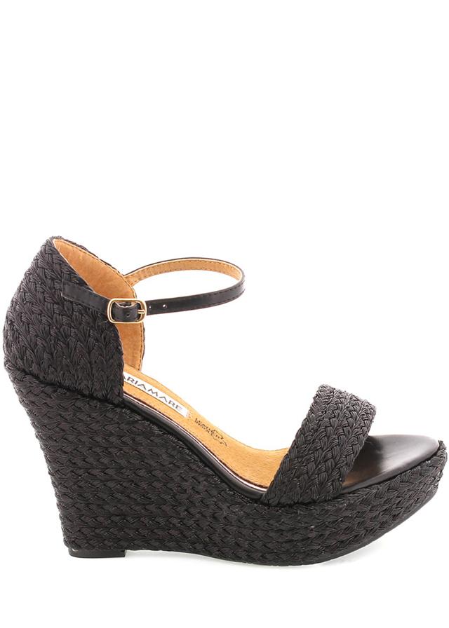 Černé sandály na platformě MARIA MARE