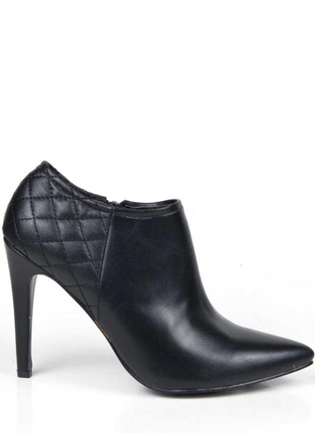 Černé boty na podpatku s prošíváním Alex Silva - 37