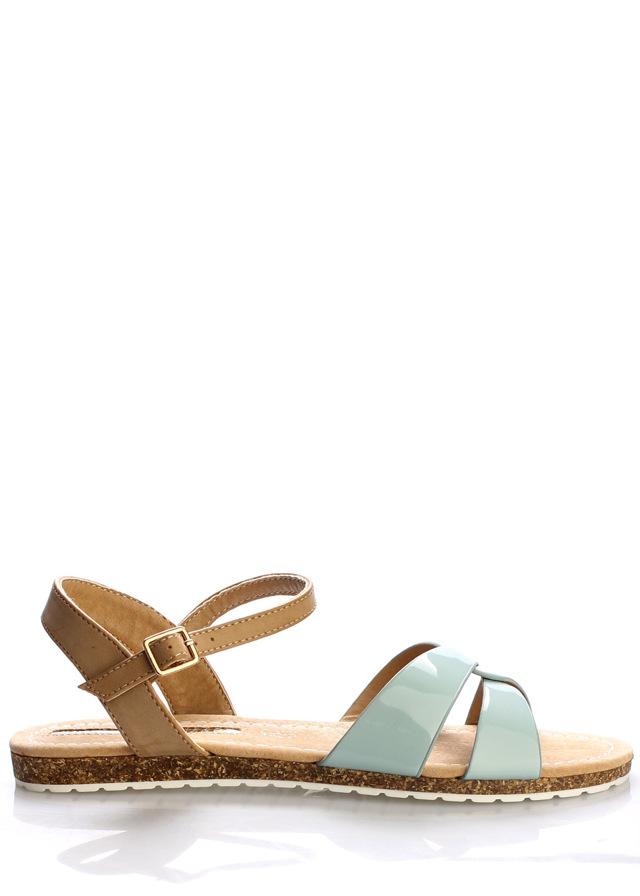 Zelené korkové letní sandálky MARIA MARE - 41