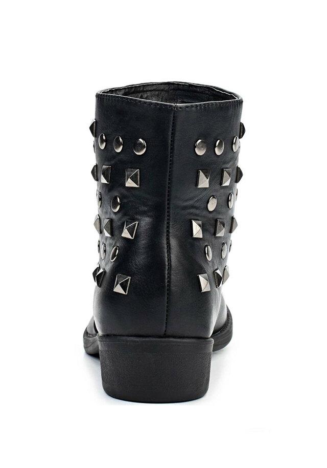 Černé kotníkové boty se cvočky Timeless(4304) - 3 3d3a27cfe8