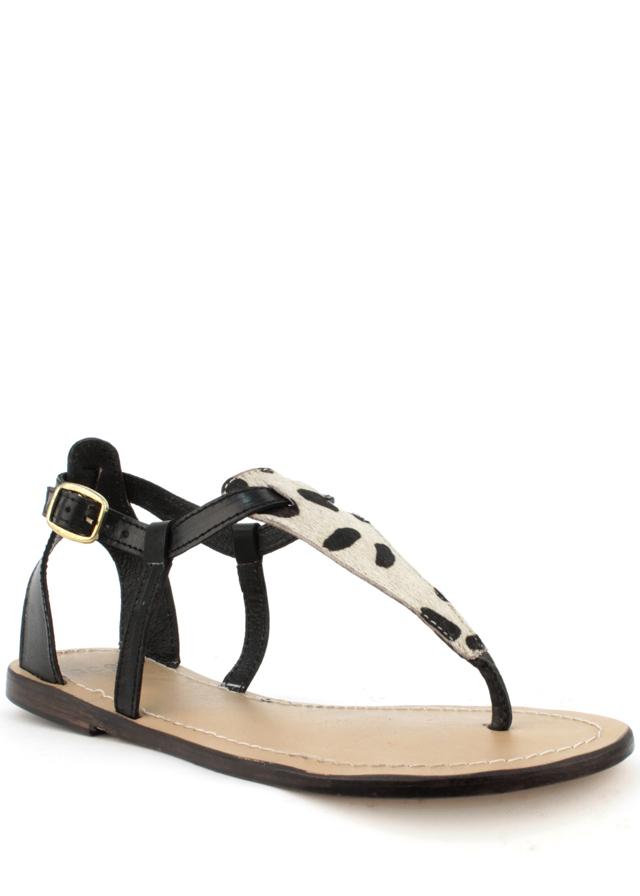 Sandály z pravé kůže s leopardím vzorem Laceys - 36