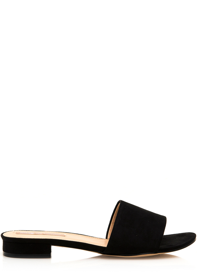 Černé pantofle na nízkém podpatku MTNG - 38 1f016379a7