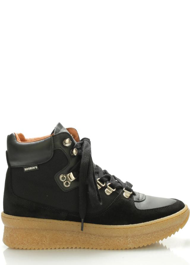 Černé kožené boty Roobins - 41