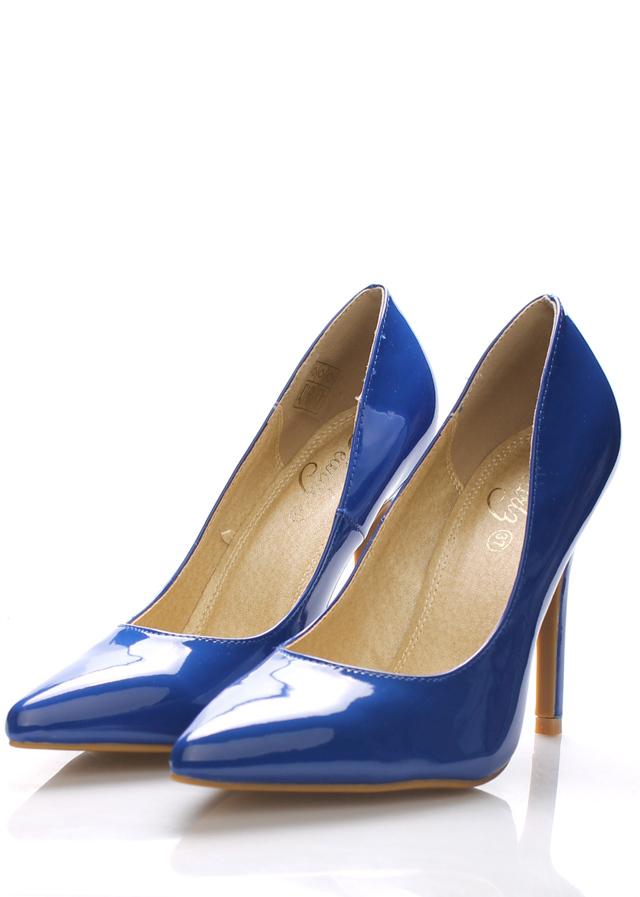Modré lesklé lodičky Monshoe(101333) - 4 67432a10a4