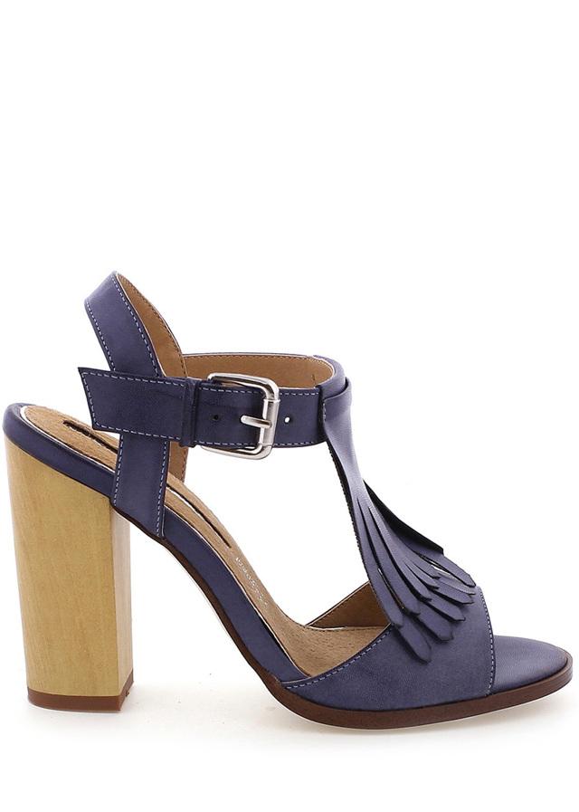 3ab071c89a Modré sandály s trásněmi na podpatku MARIA MARE