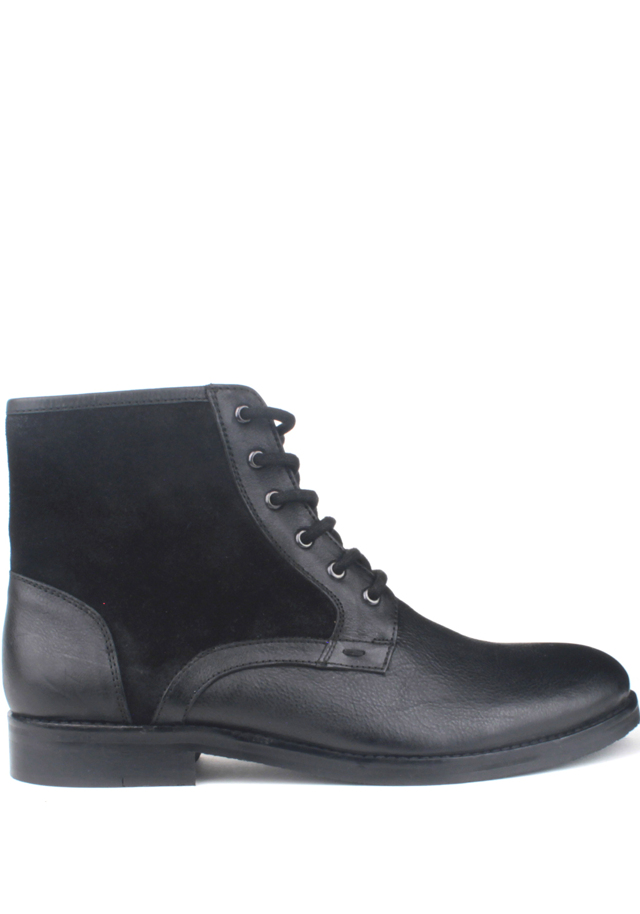 Černé pánské kožené šněrovací boty Paolo Vandini - 41