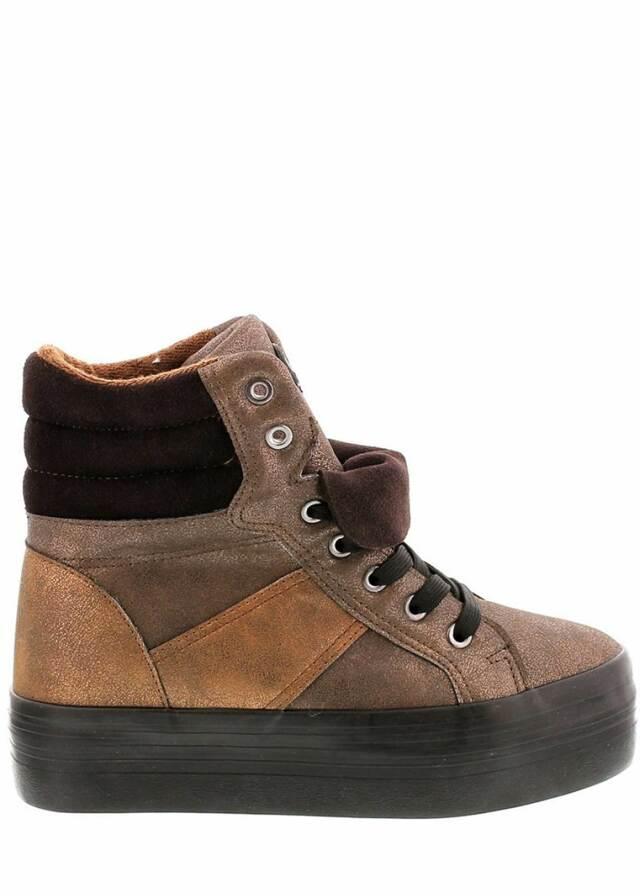Hnědé zimní boty na platformě Sixtyseven