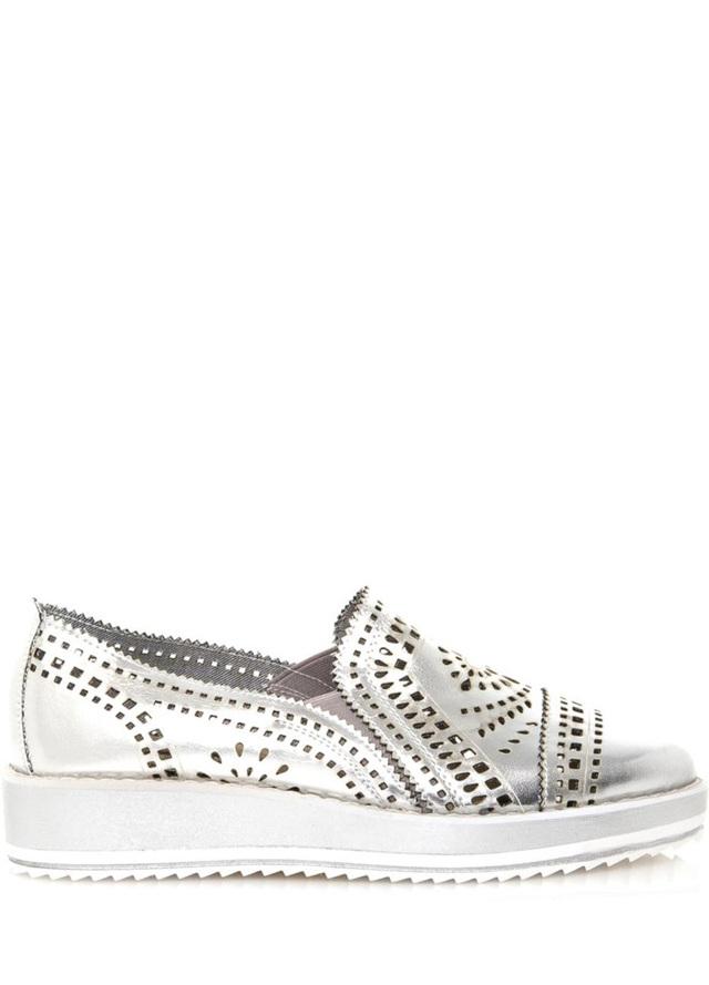 Stříbrné nazouvací boty Maria Mare