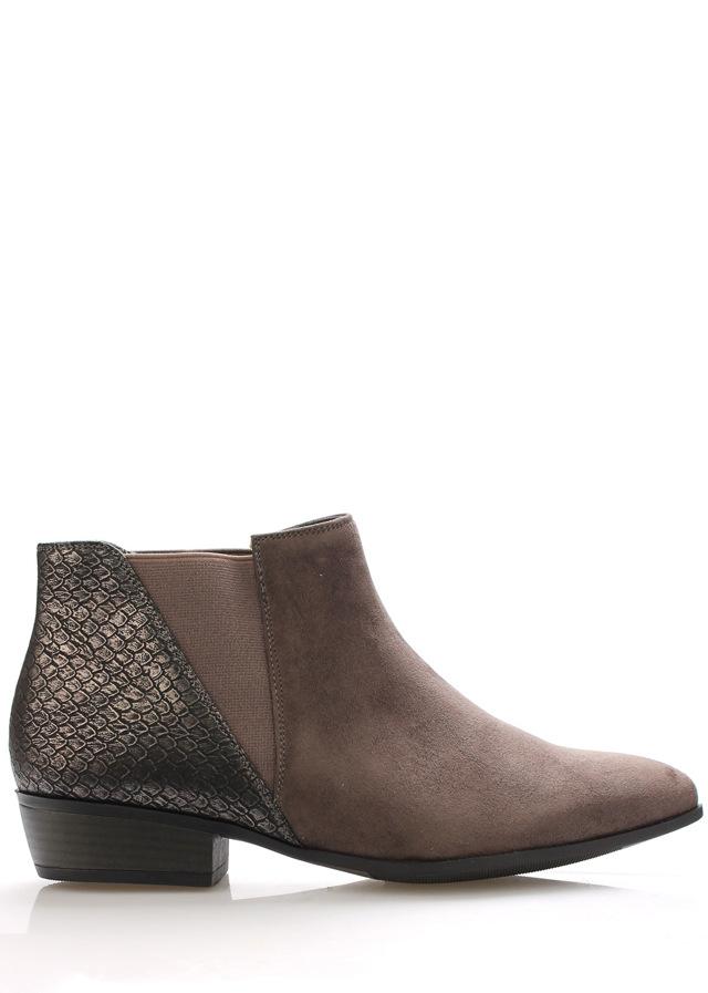 Černo-šedé kotníkové boty Claudia Ghizzani