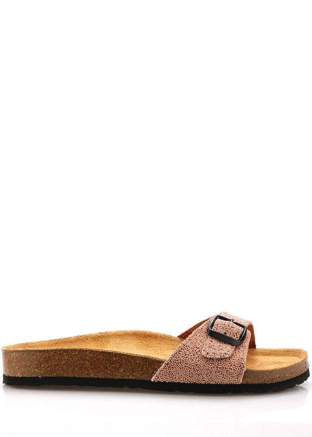 Růžové nízké kožené zdravotní pantofle EMMA Shoes