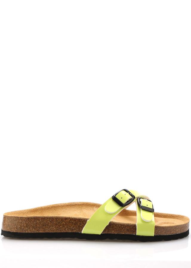 Zelené nízké kožené zdravotní pantofle EMMA Shoes