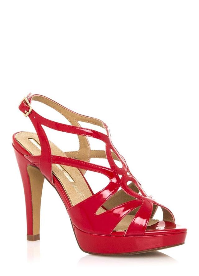 aca841f78fc1 Červené páskové sandály s nízkou platformou Maria Mare(326945) - 3