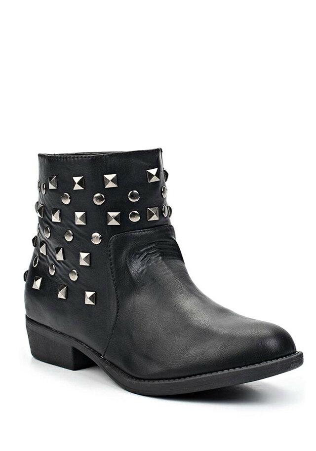 Černé kotníkové boty se cvočky Timeless(4304) - 4 d3cf8625c5