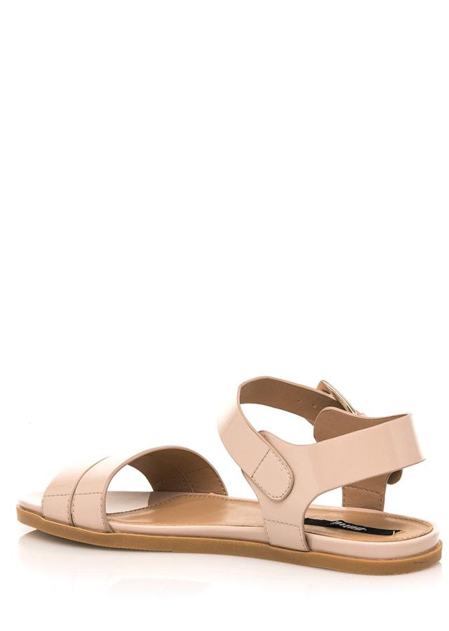 dadfb992ba60 Béžové lesklé nízké sandálky MTNG(322551) - 2