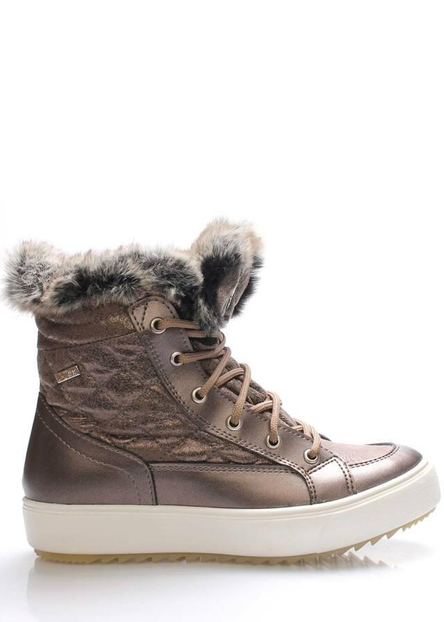 Metalické nižší italské zimní boty M&G