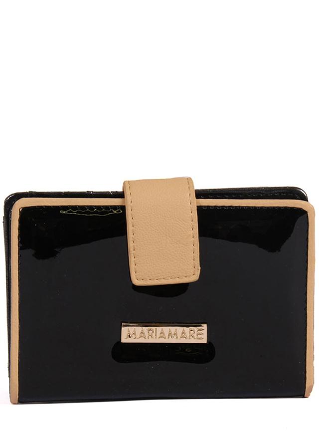 Černá lakovaná peněženka MARIA MARE