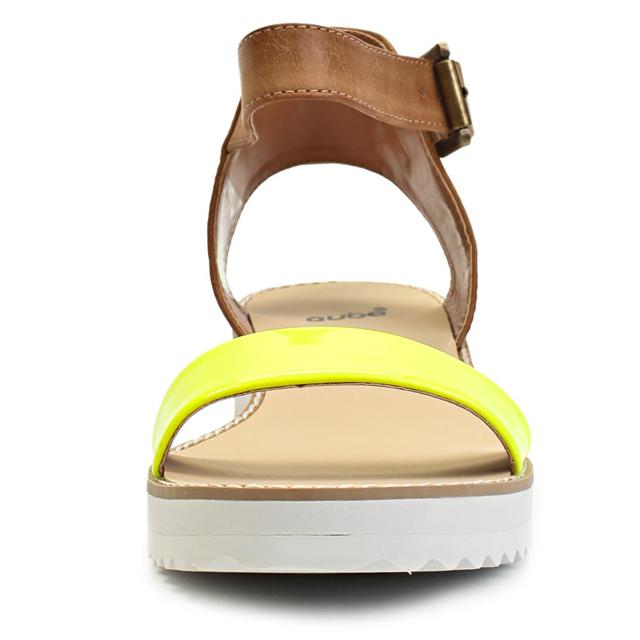 441ffcf319a1 ... Páskové žluté sandály na platformě Timeless Quing (4136) - 3 ...