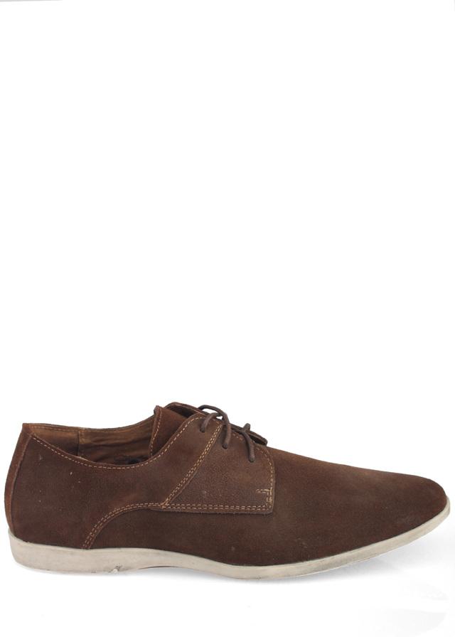 Hnědé pánské kožené boty Coolman