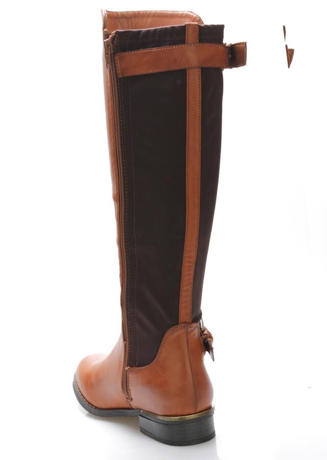 363a8053a93 Tmavě hnědé elastické kozačky Claudia Ghizzani(530884) - 2