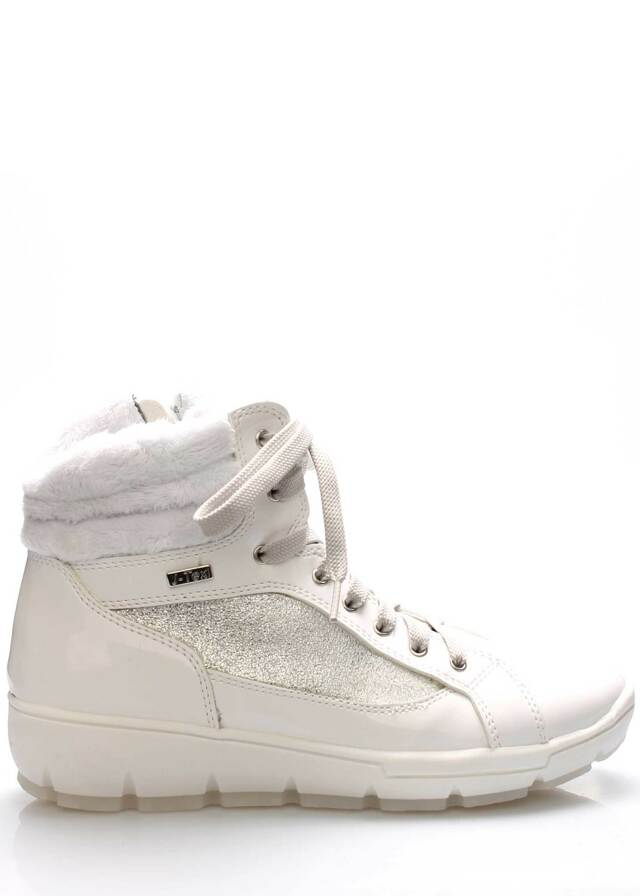 Bílé italské zimní boty M&G - 37