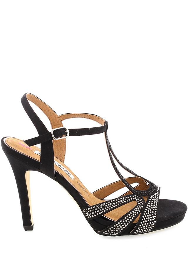 afc241498e Černé zdobené páskové sandály na podpatku MARIA MARE - 37