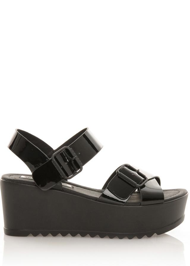 Černé sandály na platformě MTNG
