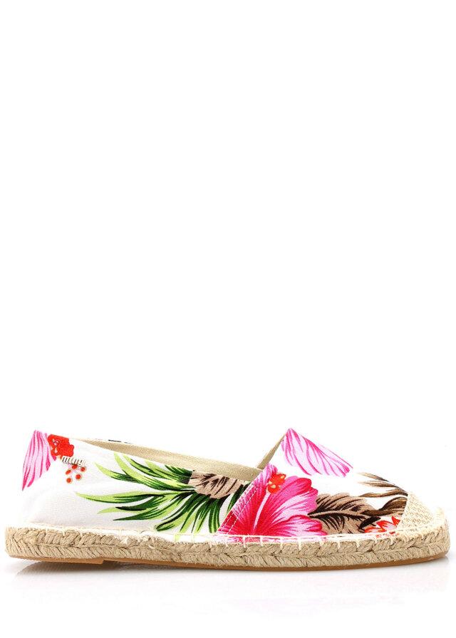 Růžové květované espadrilky MARIA MARE